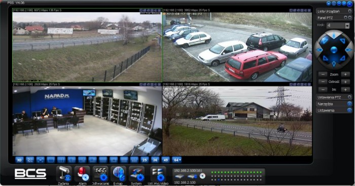 Inteligenty dom - Monitoring wizyjny - ekran
