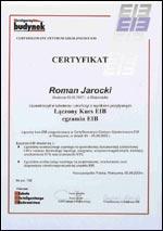 Certyfikat Kurs EIB (2003)