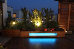 Oświetlenie RGB  LED. Sterownik RGB.  Ogród na dachu.