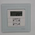 Przycisk z regulatorem temperatury. Inteligentne sterowanie domem. Inteligentny dom Magdalenka