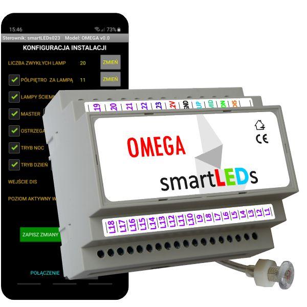 Inteligentny sterownik schodowy oświetlenia LED z aplikacją na smartfon Android Bluetooth